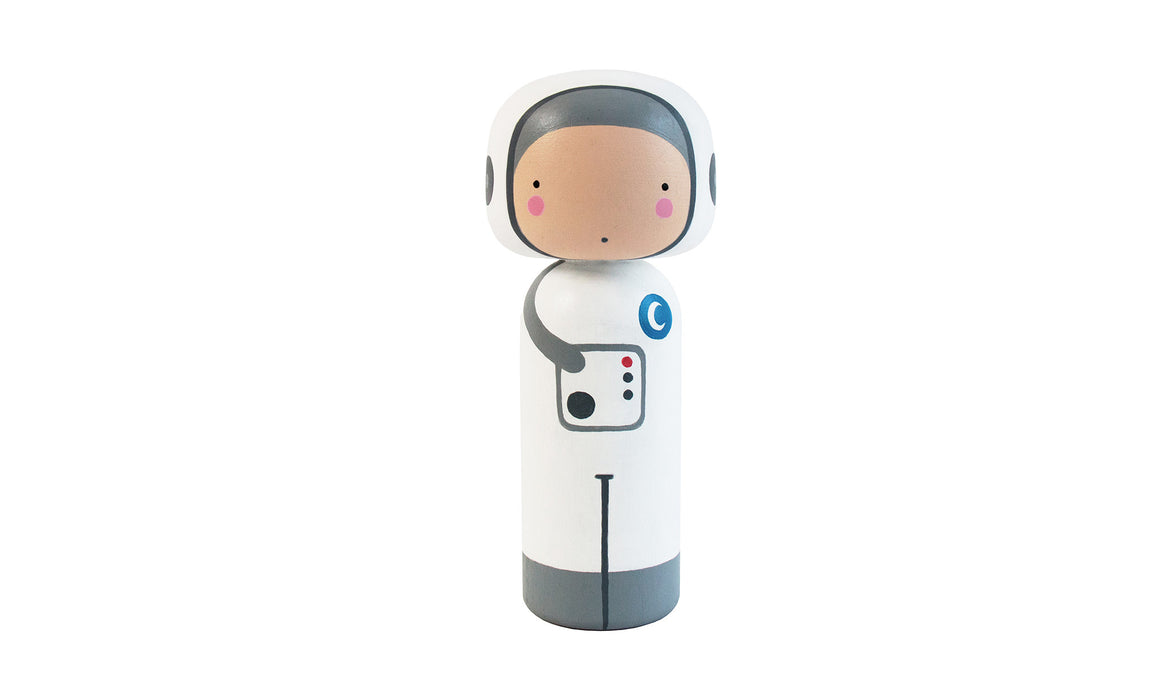Spaceman Kokeshi Doll