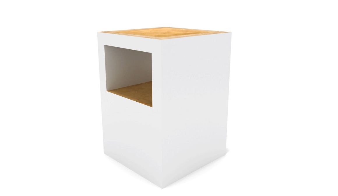 Universo Positivo Block Stool Open - White