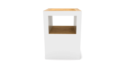 Ethnicraft Block Stool Open - White