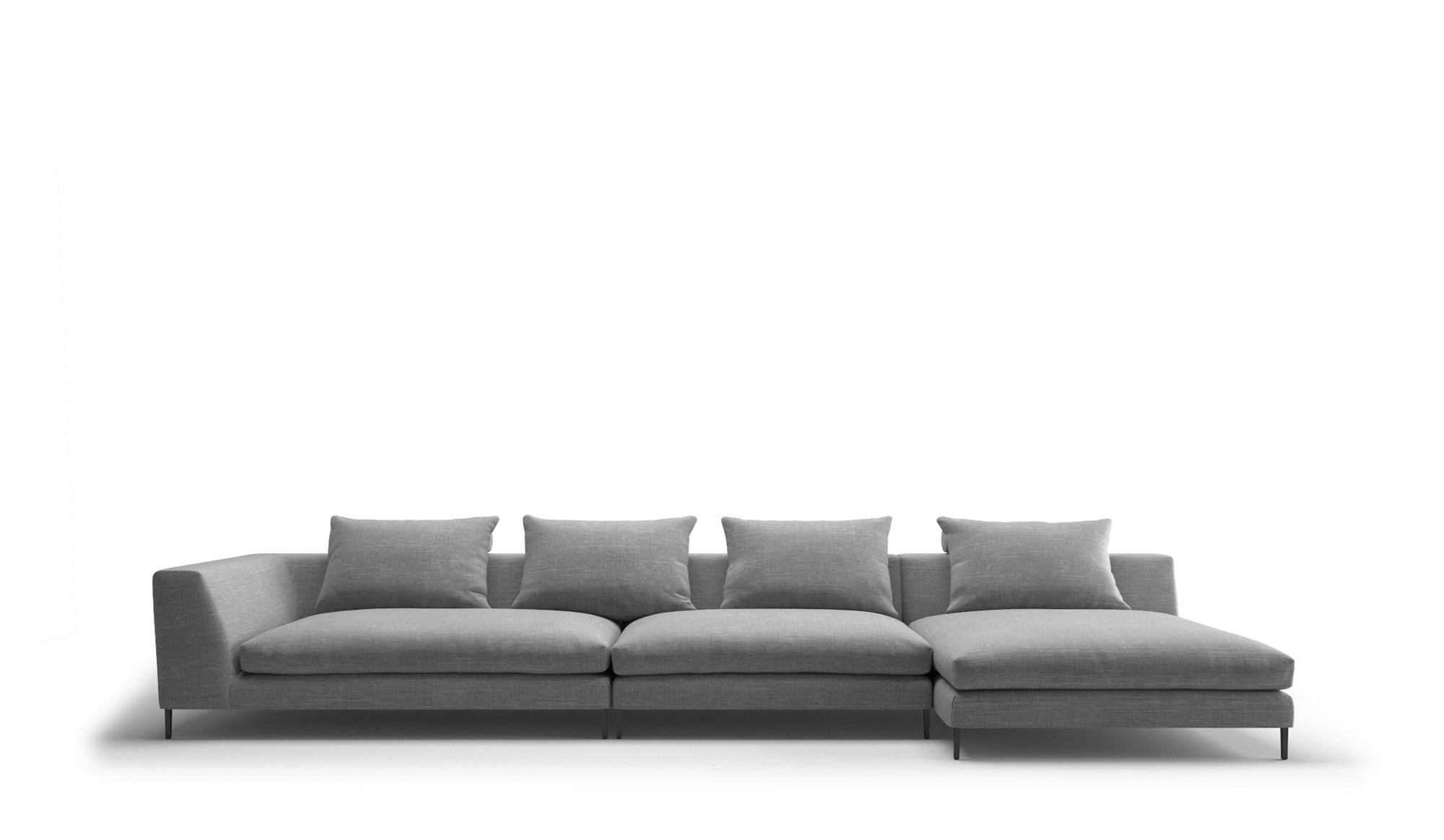 Peak 4 Seater Right Chaise Sofa | Diara Mist