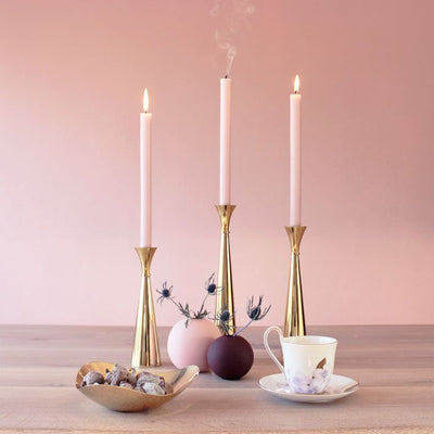 Funky Doris Lydia Brass Candle Holder