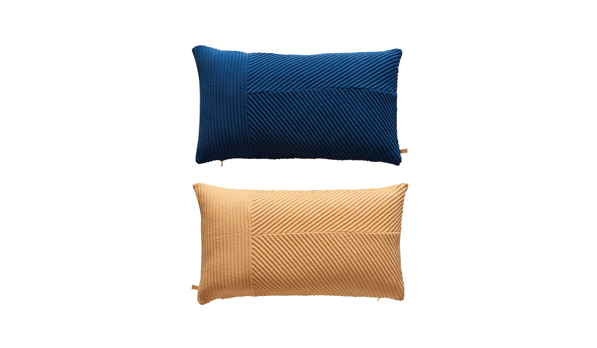 Ada Cushion | Dazzling Blue and Peach