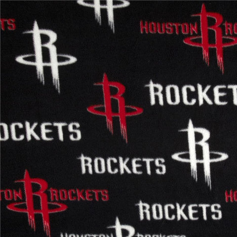 Houston Rockets All Over Fleece fabric