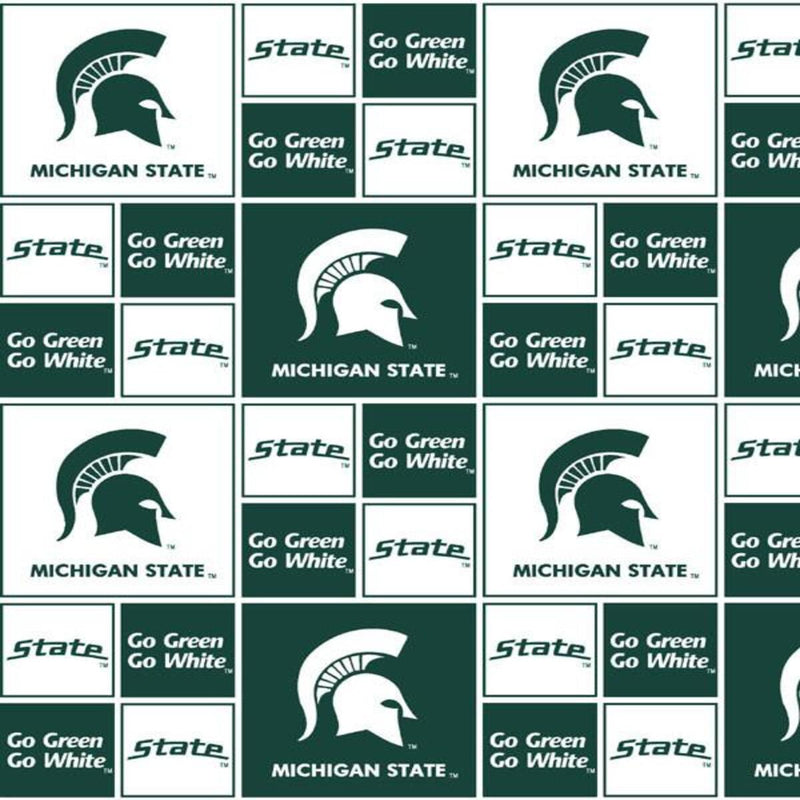 Michigan State Spartans Blocks | Cotton Fabric