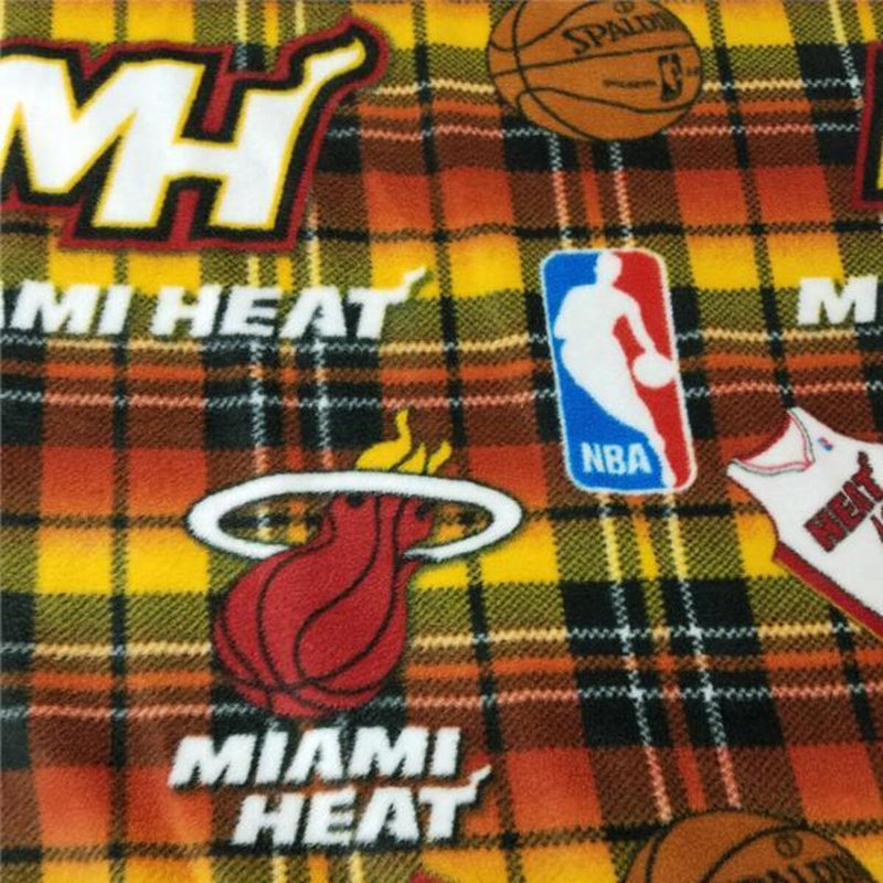 Miami Heat Plaid | Fleece Fabric