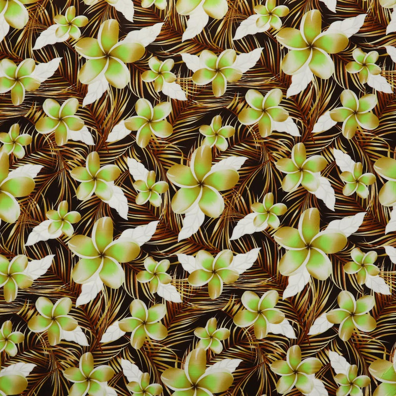 Plumeria with Fern Leave | Rayon Fabric