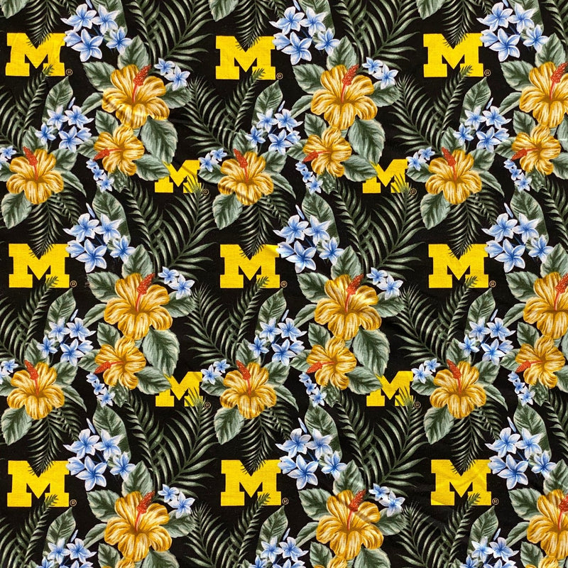 NCAA Michigan Wolverines Cotton Fabric