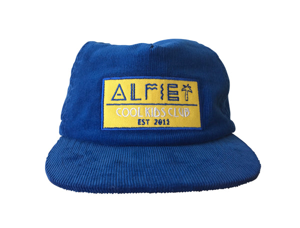 'Cool Kids Club' Blue Cord Cap