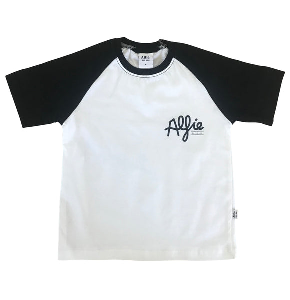 Black/white Raglan Tee