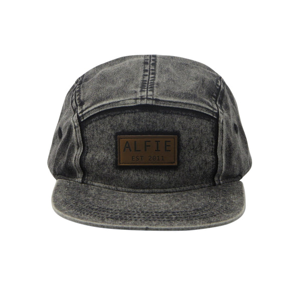 Acid Wash Black 5 Panel Cap