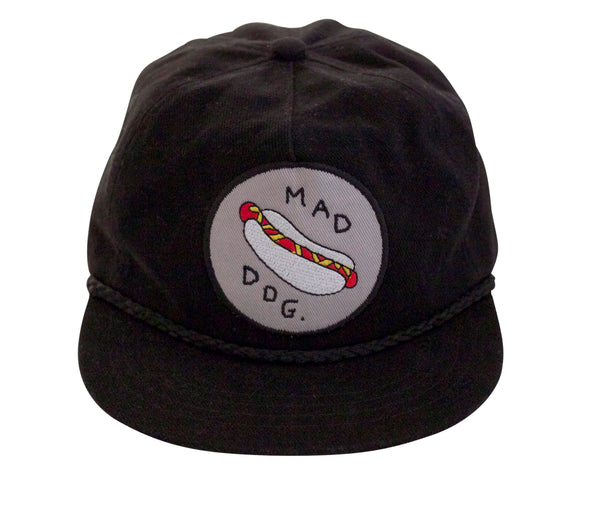 'Mad Dog' Black (Shallow Fit) Hat