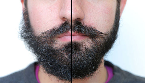 Before Beard Balm and After Beard Balm