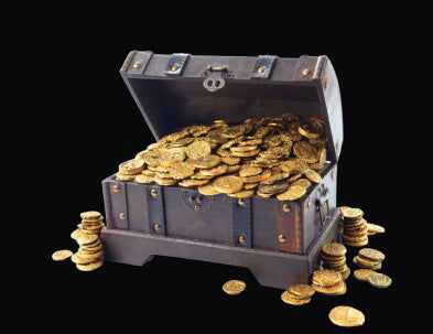 Treasure Chest with gold coins inside