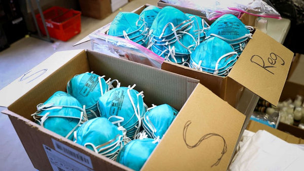 Boxes of N95 protective masks