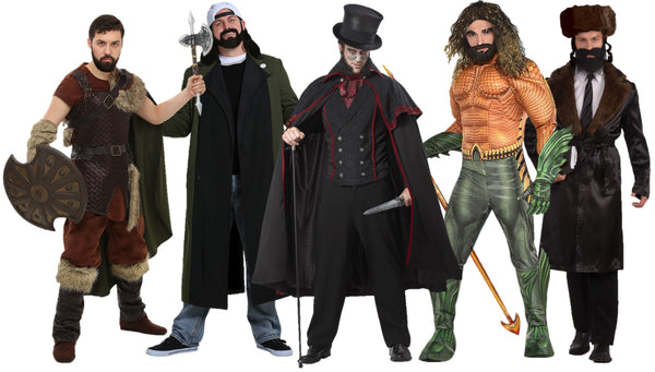 Costumes for Stubble and Stache or Short Beards