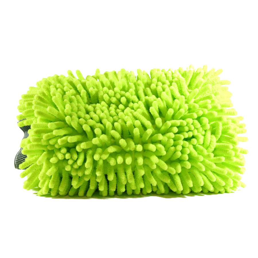 Green Chenille Wash Mitt