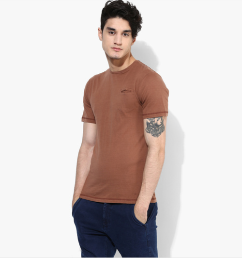 brown boy pocket tshirt