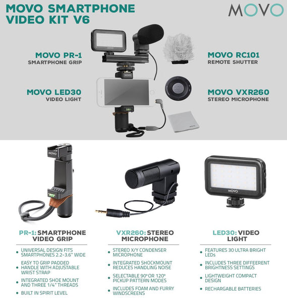 MOVO Smartphone Video Kit V6