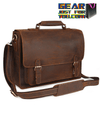 Highest Luxury Men's Leather Satchel Briefcase 16 Inch Laptop Shoulder Bag