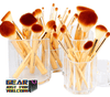 20-Pieces Bamboo Handle Synthetic Hair Beauty Makeup Brush Set