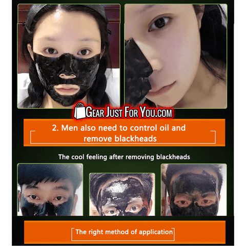 Effective Deep Clean Oil Blackhead Remover Bamboo Charcoal Mud Peel Off Face Mask