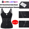 Authentic Neoprene Waist Cincher Zipper-Hook Body Shaper