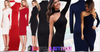 Glamorous Women's One Shoulder Crop Full Sleeve Bodycon Mini Pencil Dress