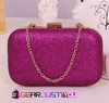 Attractive Women's Glitter Chain Leather Durable Wallet Clutch