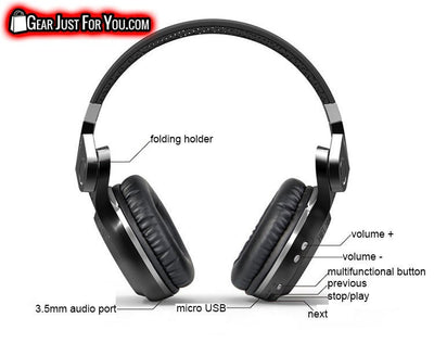 Most Advanced Technology Wireless Headphones with Soft Ear Cushions Noise Canceling Enhanced Bass for iPhone & Samsung - Gear Just For You.com