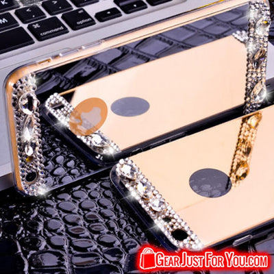 Crystal Bling Mirror TPU Soft Case Cover For iPhone - Gear Just For You.com