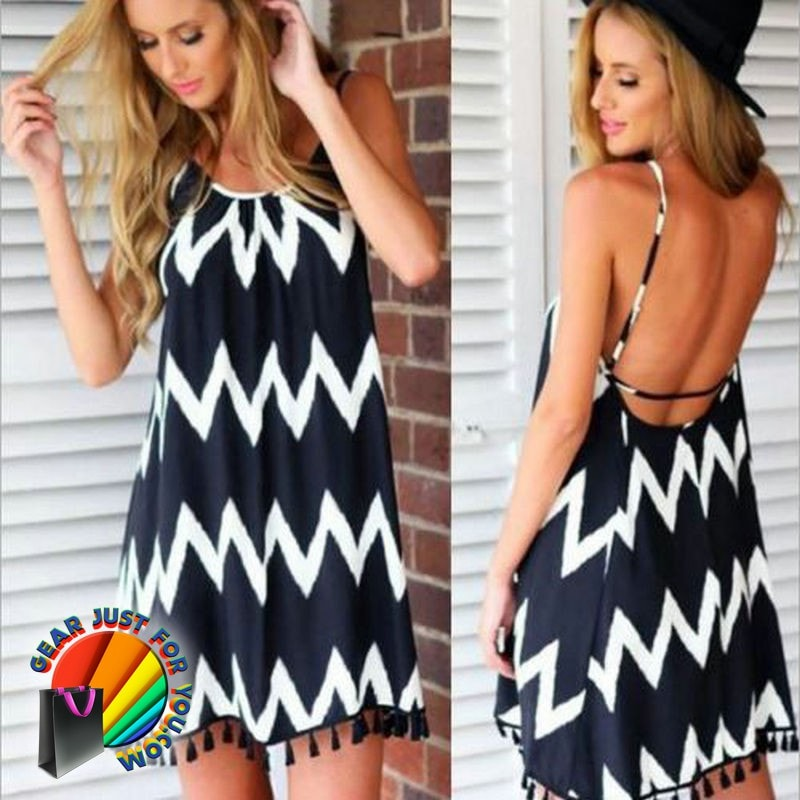 329db86a20c Casual Women Summer Sleeveless Beach Party Dress - Gear Just For You.com