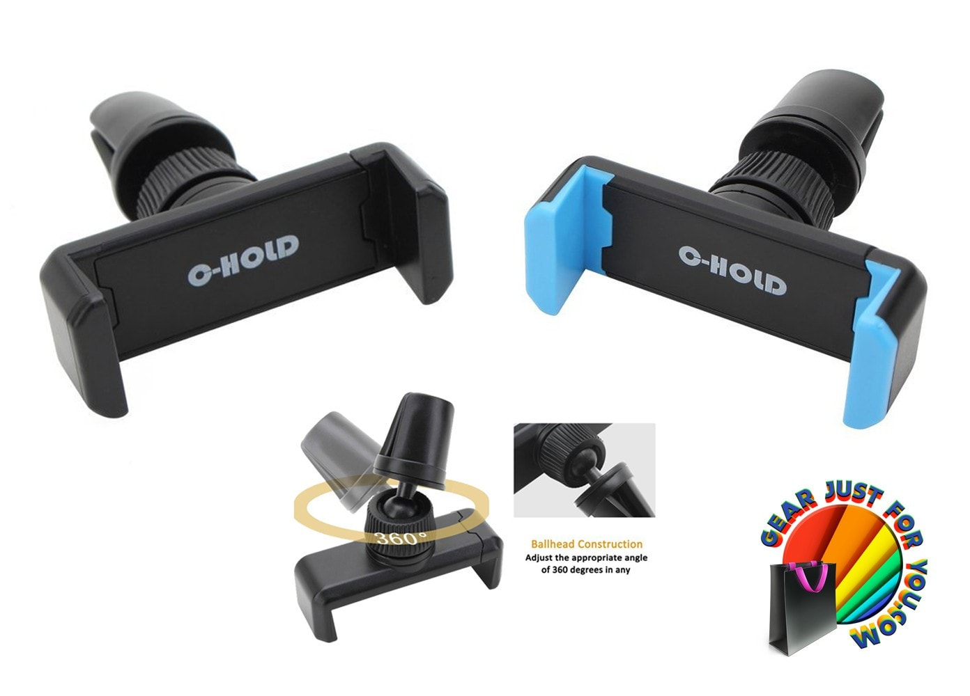 C Hold Air Vent 360 Rotate Mount Holder For Smart Phones Gear Car Ventilation T360 Just