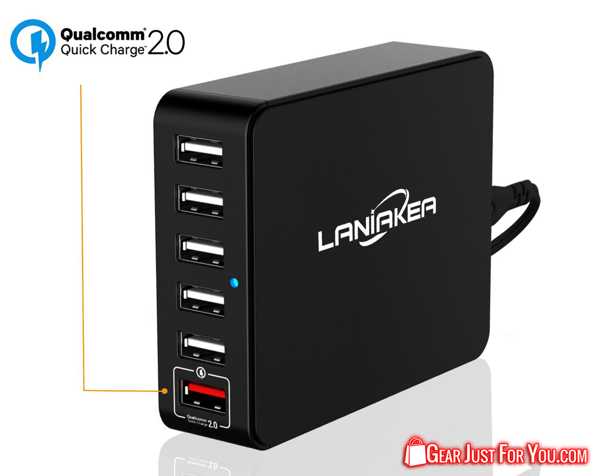 Universal High Speed 6-Port USB Quick Charge Charging Station Power Bank - Gear Just For You.com