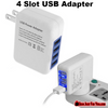 Image of 4 Slot USB Port Adapter Portable Wall Charger for iPhone Samsung Android MP3 GPS - Gear Just For You.com