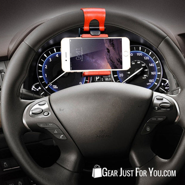 Universal Steering Wheel Navigation Car Socket Stand Holder Case - Gear Just For You.com