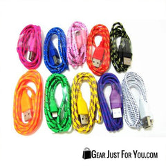 LOT BRAIDED LIGHTNING USB Charger Data Cable for iPhone 6/6S Plus/5/5S/5c