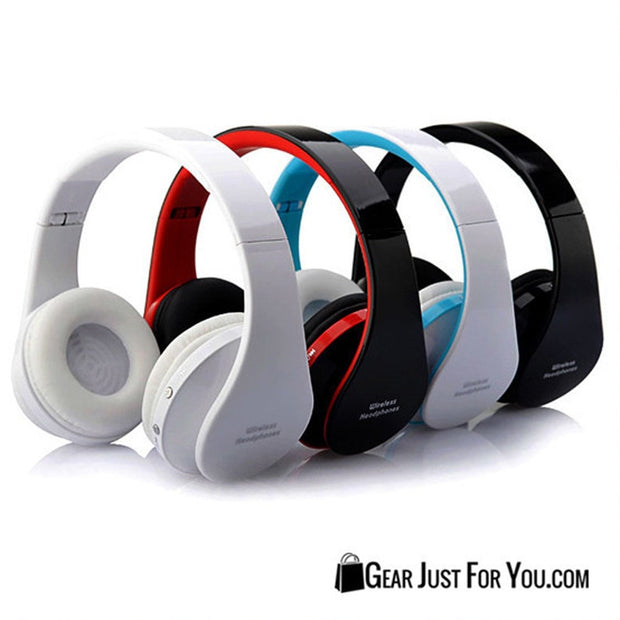 Stunning Bluetooth Wireless Headphones with Soft Ear Cushions Noise Canceling Enhanced Bass for iPhone & Samsung - Gear Just For You.com