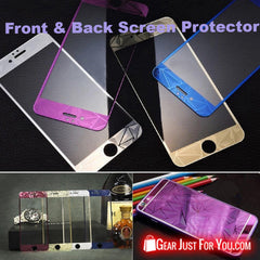3D Diamond Tempered Glass Front & Back Screen Protector For iPhone