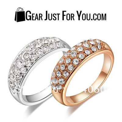Clear Crystal 18K Gold /platinum Plated Women Ring - Gear Just For You.com