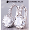 GORGEOUS New 18k White Gold White Swarovski Crystal Earrings