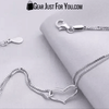 Hot Offer FREE 925 Sterling Silver LOVE Heart Bracelet with Crystal Chain