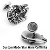 Custom Made Star Wars Palladium Millennium Falcon Cufflinks - Gear Just For You.com