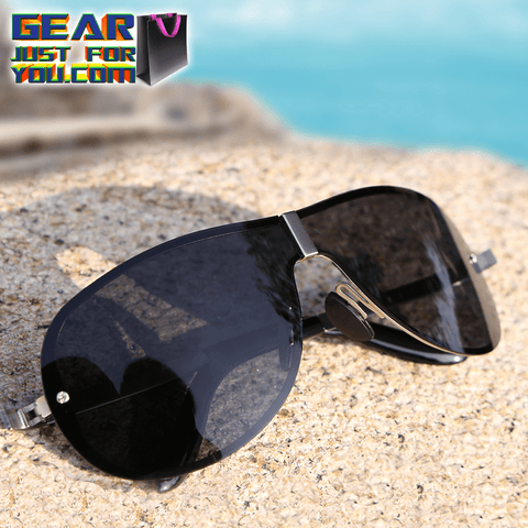 Fashionable UV Protected HD Polarized Men's Outdoor Driving Rimless Sunglasses