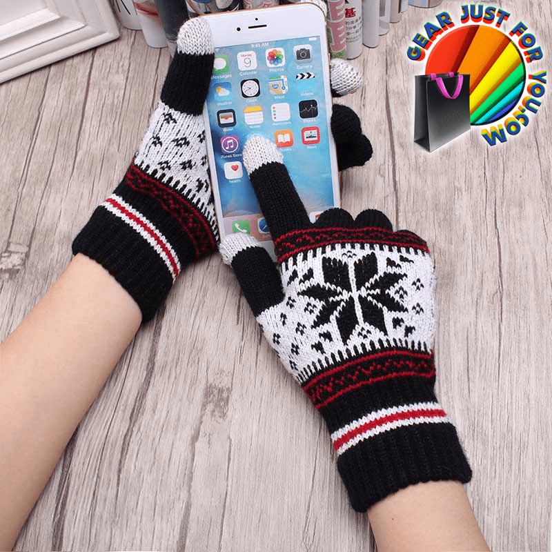 Ultra Soft Cashmere Wool Knitted Snowflake Pattern Unisex Full
