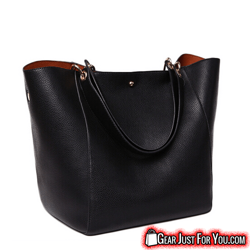 Fashionable High-Quality Leather Made Casual Large Tote Women s Hand ... 4b0bb6a7eb7cf