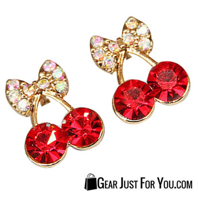 18KG Plated Cystal Earrings - Gear Just For You.com