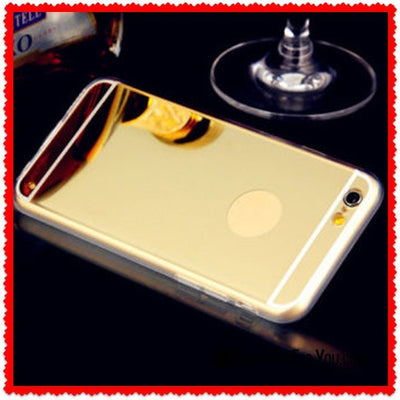 Beautiful Rose Gold Anti-Scratch Aluminum Metal Mirror Case For Apple iPhone - Gear Just For You.com