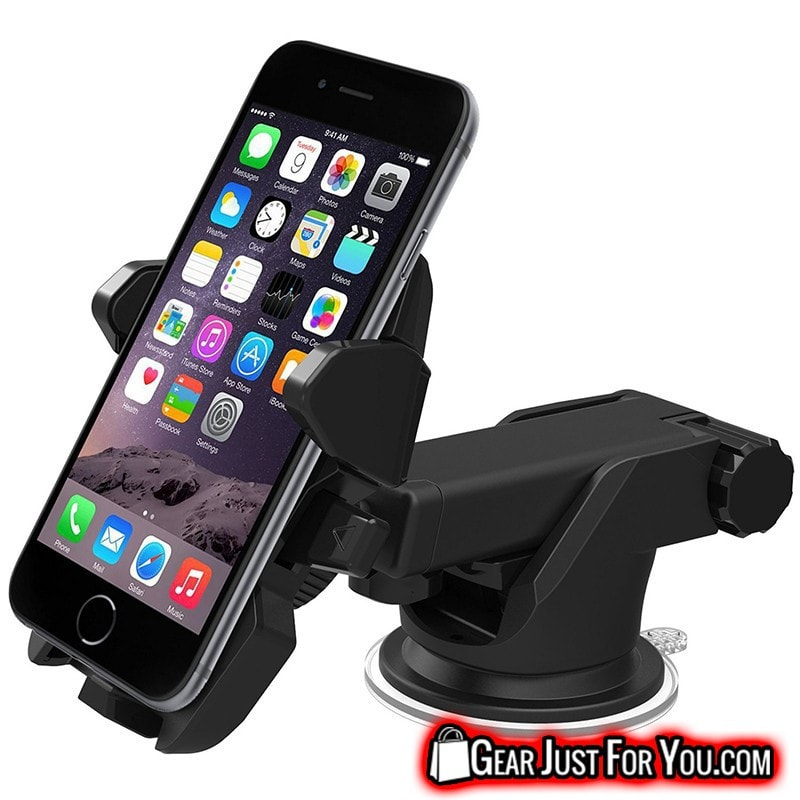 One Touch Car Mount Holder For iPhone & Samsung - Gear Just For You.com