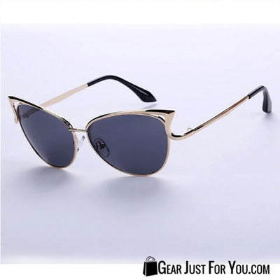 Women's Cat Eye Metal Frame Sexy Outdoor Sunglasses - Gear Just For You.com