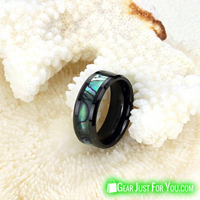Natural Shell Ceramic Black Ring Space Designer Jewelry For Women - Gear Just For You.com